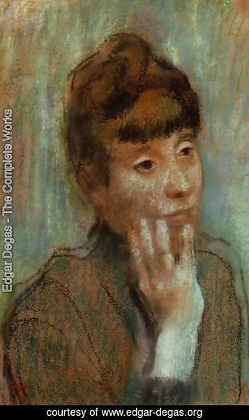 Edgar Degas - Portrait of a Woman Wearing a Green Blouse