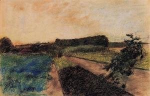 Edgar Degas - Landscape on the Orne