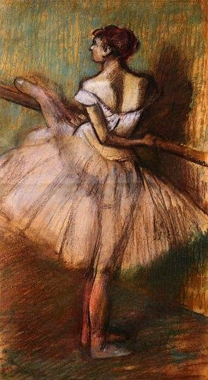 Edgar Degas - Dancer at the Barre II