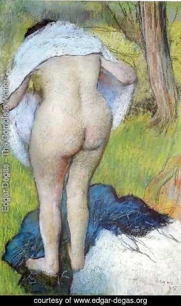 Edgar Degas - Nude Woman Pulling on Her Clothes