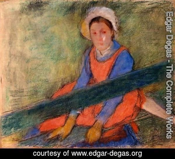 Edgar Degas - Woman Seated on a Bench