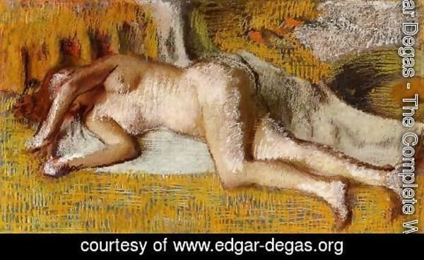 Edgar Degas - After the Bath VI