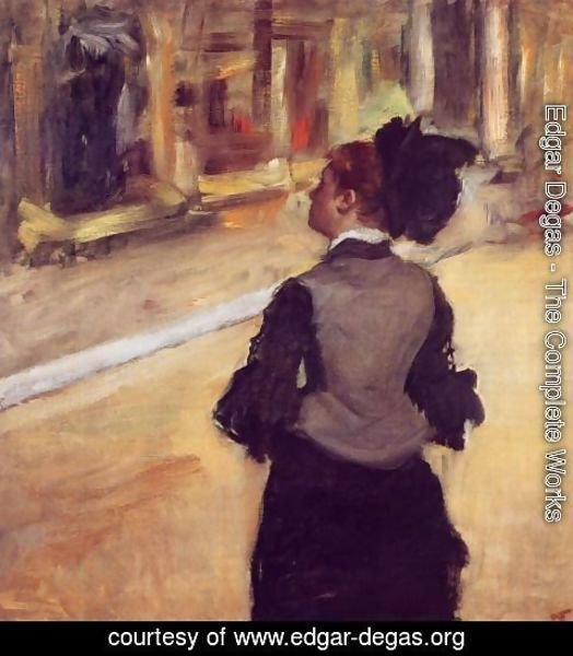 Edgar Degas - A Visit to the Museum