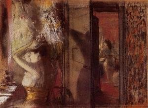 Edgar Degas - The Actresses Dressing Room