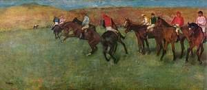 Edgar Degas - At the Races - Before the Start