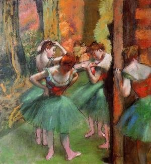 Edgar Degas - Dancers, Pink and Green