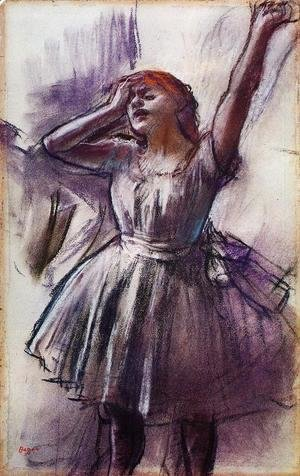 Edgar Degas - Dancer with Left Art Raised