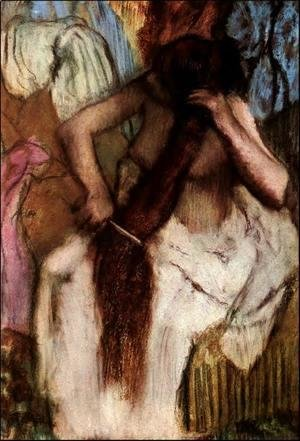 Edgar Degas - Seated Woman Combing Her Hair