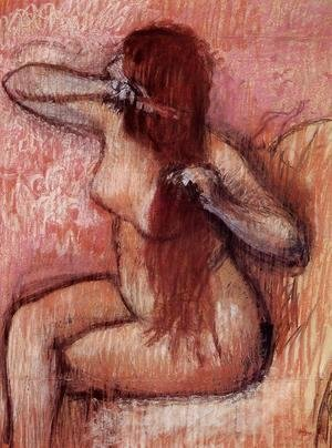 Edgar Degas - Seated Nude Combing Her Hair