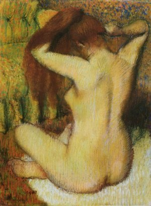 Edgar Degas - Woman Combing Her Hair II
