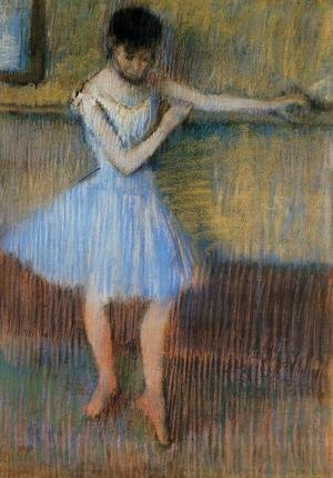 Edgar Degas - Dancer in Blue at the Barre