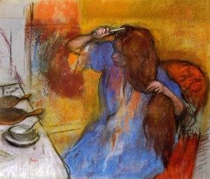 Edgar Degas - Woman Brushing Her Hair