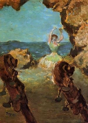 Edgar Degas - Dancer on Stage I
