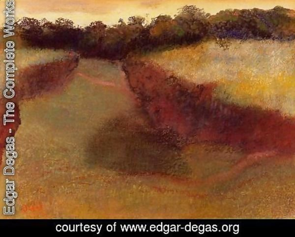 Edgar Degas - Wheatfield and Line of Trees