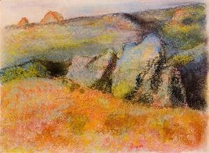 Edgar Degas - Landscape with Rocks