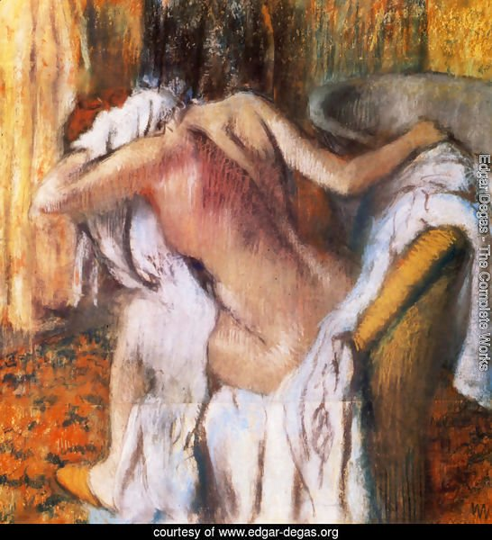 After the Bath, Woman Drying Herself I