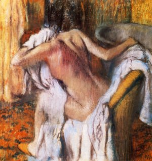 Edgar Degas - After the Bath, Woman Drying Herself I