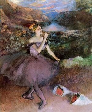 Edgar Degas - Dancer with Bouquets