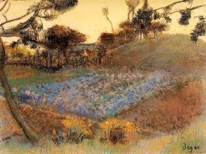 Edgar Degas - Field of Flax