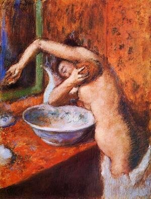 Edgar Degas - Woman Washing Herself I