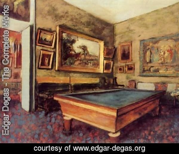 Edgar Degas - The Billiard Room at Menil-Hubert