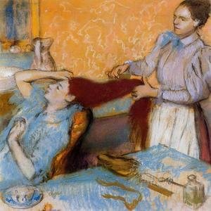 Edgar Degas - Woman Having Her Hair Combed I