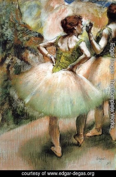 Edgar Degas - Dancers, Pink and Green I