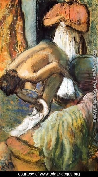 Edgar Degas - Breakfast after the Bath I