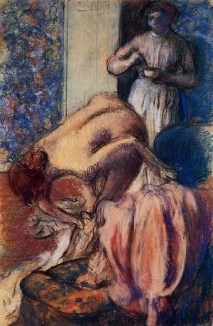 Edgar Degas - Breakfast after Bathing