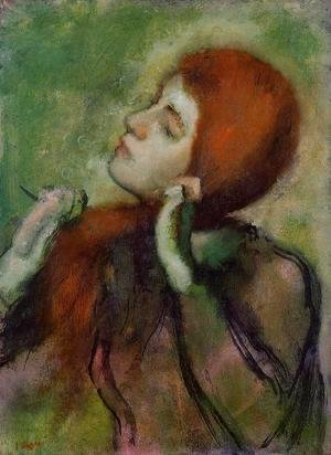 Edgar Degas - Woman Combing Her Hair III