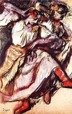 Edgar Degas - Two Russian Dancers