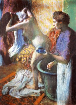 Edgar Degas - Breakfast after the Bath II