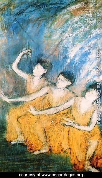 Edgar Degas - Three Dancers I