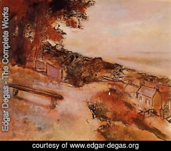 Edgar Degas - Landscape by the Sea