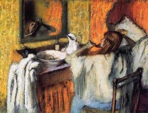 Edgar Degas - Woman at Her Toilette I