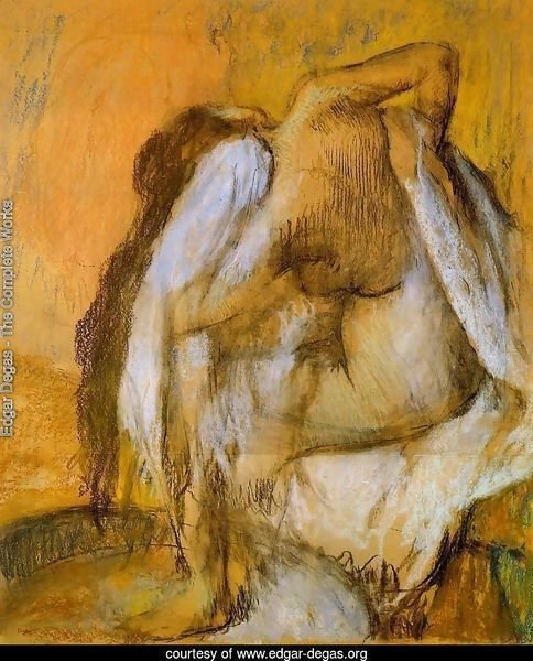 Edgar Degas - The Complete Works - After The Bath, Woman -6152