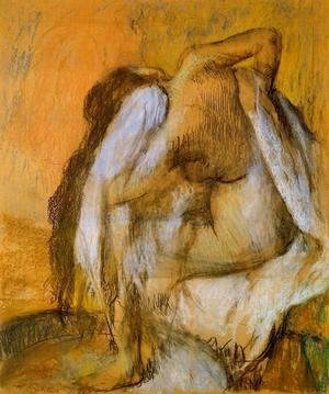 Edgar Degas - After the Bath, Woman Drying Herself III