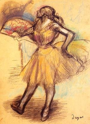 Dancer with a Fan (study)