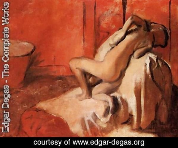 Edgar Degas - After the Bath XI
