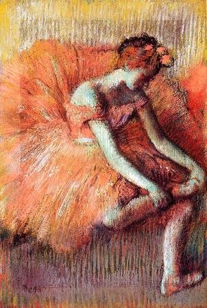 Edgar Degas - Dancer Adjusting Her Sandel