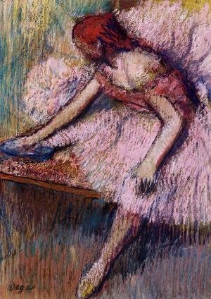 Edgar Degas - Pink Dancer I