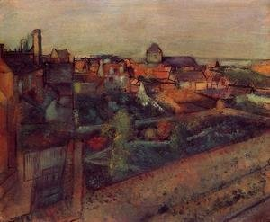 Edgar Degas - View of Saint-Valery-sur-Somme