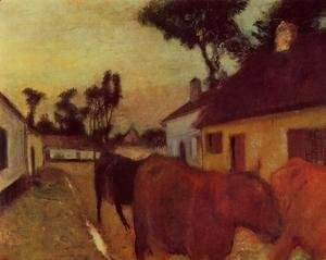 Edgar Degas - The Return of the Herd