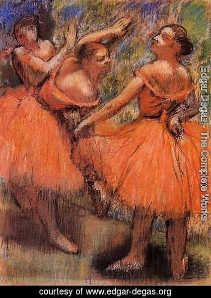 Edgar Degas - Red Ballet Skirts