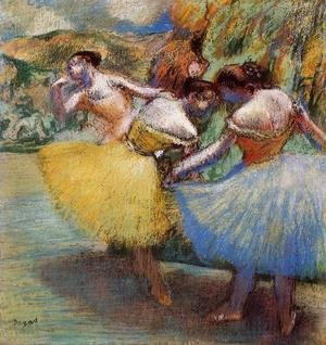Edgar Degas - Three Dancers II