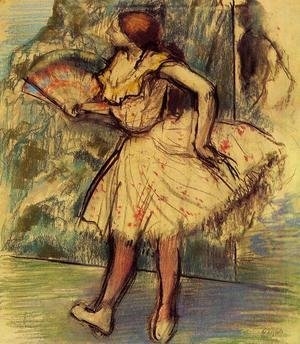 Edgar Degas - Dancer with a Fan II
