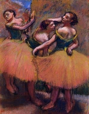 Edgar Degas - Three Dancers, Green Blouses