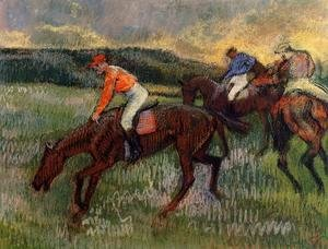 Edgar Degas - Three Jockeys