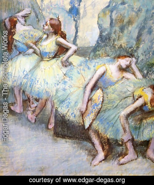 Edgar Degas - Ballet Dancers in the Wings