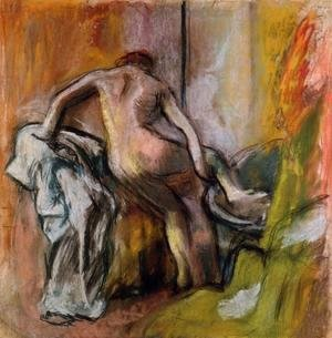 Edgar Degas - Leaving the Bath